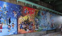 Two murals with Tezuka characters were displayed at Takadanobaba station! (photo03)