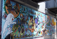 Two murals with Tezuka characters were displayed at Takadanobaba station! (photo04)