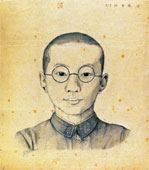 Self-portrait in junior high school age (sketch)