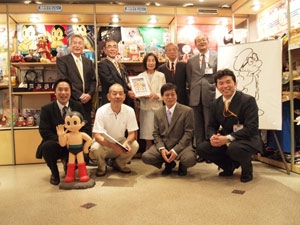 The Presentation Ceremony for Astro boy Stamp Sheet was held. (photo01)
